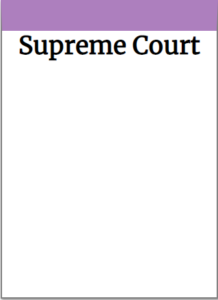 An example of a TABOO card with the words Supreme Court on it.